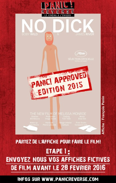 affiche panic - no dick