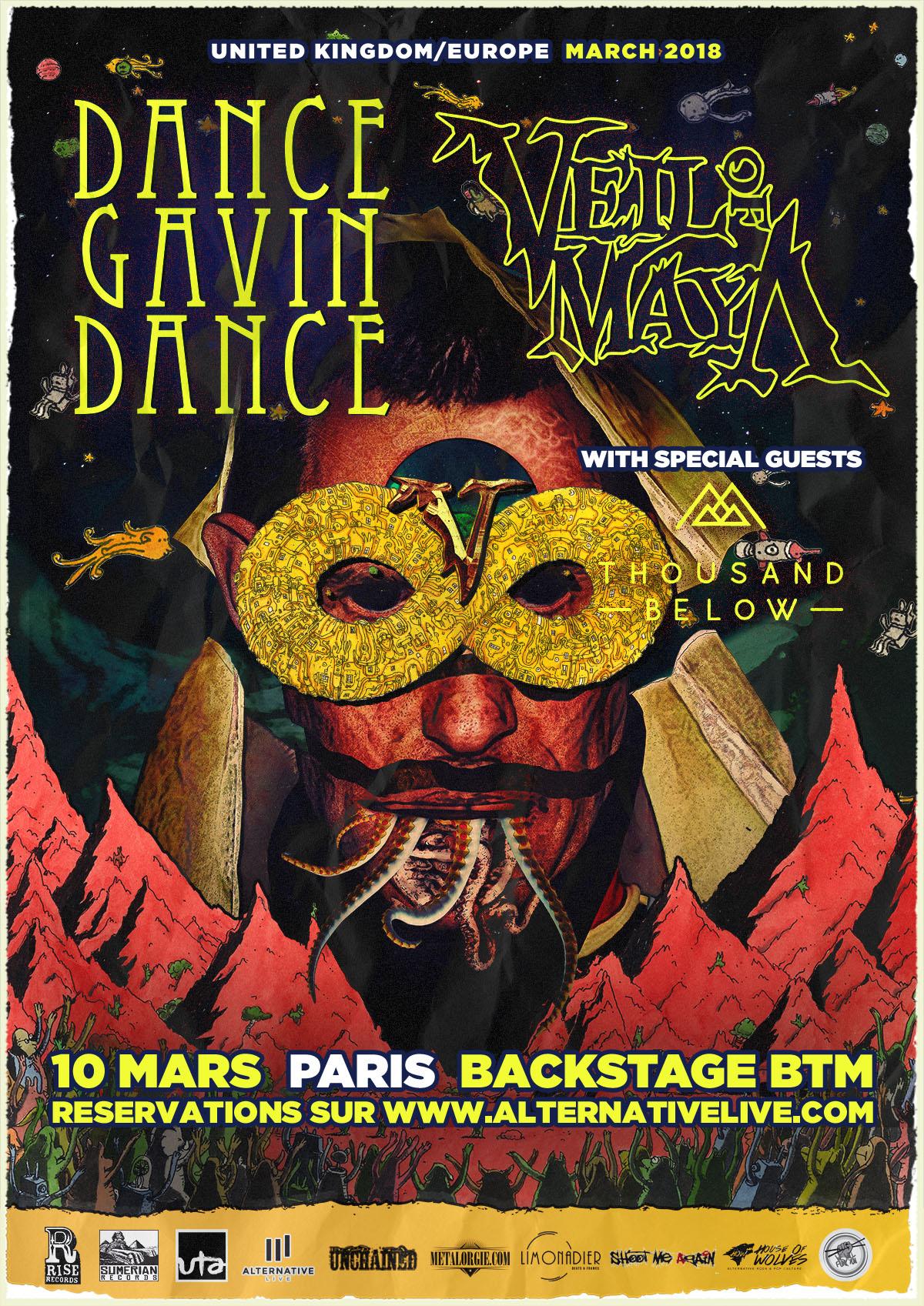 DANCE GAVIN DANCE BACKSTAGE BTM