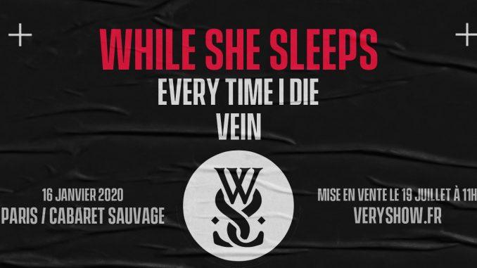 Gagne ta place pour le concert de While She Sleeps à Paris - A person with collar shirt - T-shirt